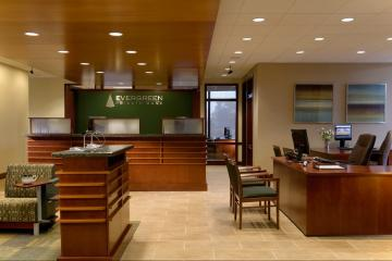 bank and office interiors. Evergreen Bank Oak Brook, IL | Office Interiors And R